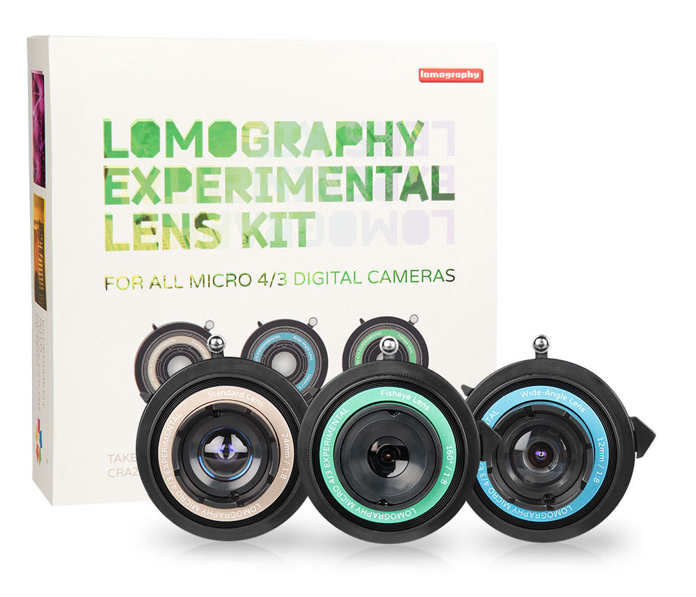 lomography experimental lens kit for micro 4/3 digital cameras