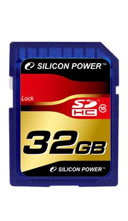 Silicon Power 32gb SD HC 10 фото №1