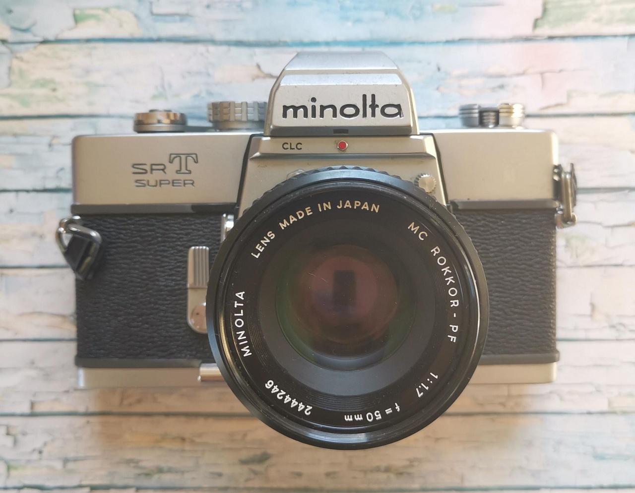 Пленочные камеры Minolta SRT super+ Minolta mc rokkor-pf 50 mm f/1.7 купить в Москве в интернет-магазине   Wonderfoto